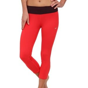 Nike Dri-Fit Red and Burgundy Capris!